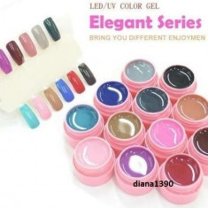 Set 12 Geluri UV Gel Color Canni - Seria Elegant, Gel colorat