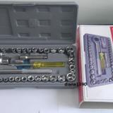 Set Trusa 40 piese chei tubulare Crichet - Cheie mecanica