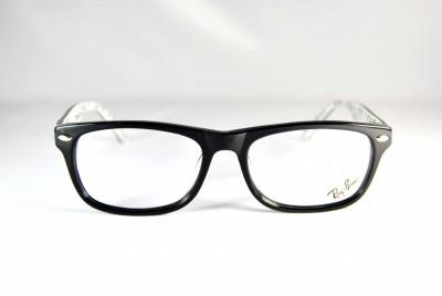 Rame de ochelari Ray Ban RB5228 2009 negru cu print interior foto