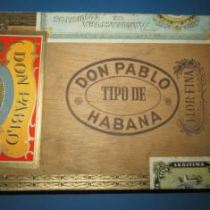 Cutie trabucuri Don Pablo HAVANA placaj.