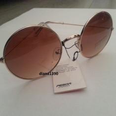Ochelari de soare rotunzi John Lennon lentile maro degrade gradient style retro, Unisex