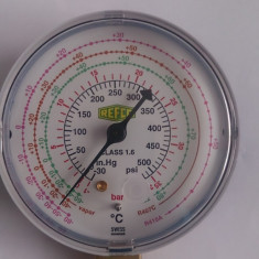 Manometru ceas aer conditionat (Freon R22, R407, R410) REFCO NOU