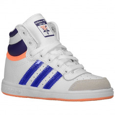 Adidas Originals Top Ten Toddler | 100% originali, import SUA, 10 zile lucratoare - e12709 - Ghete copii Adidas, Baieti, Piele naturala, Alb