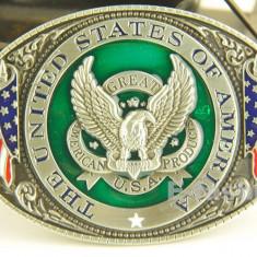 Catarma pafta steag America USA SUA catarame paftale pt. curea +CADOU!