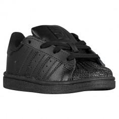 Adidas Originals Superstar Toddler   100% originali, import SUA, 10 zile lucratoare - e12709 - Adidasi copii, Baieti, Piele naturala, Negru