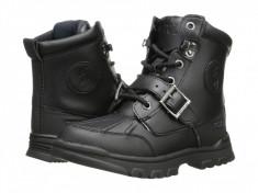 Polo Ralph Lauren Kids Colbey Boot FT14 (Little Kid) | 100% originali, import SUA, 10 zile lucratoare - z12809, Baieti, Negru, Piele naturala, Polo By Ralph Lauren