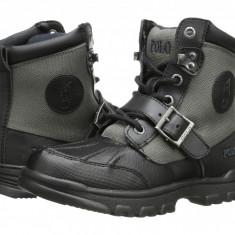 Polo Ralph Lauren Kids Colbey Boot FT14 (Little Kid)   100% originali, import SUA, 10 zile lucratoare - z12809 - Ghete copii Polo By Ralph Lauren, Baieti, Piele naturala, Gri