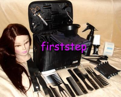 Set kit frizerie coafor COMPLET cu foarfeca  tuns filat cap practica par natural foto