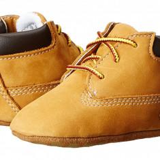 Timberland Kids Crib Bootie with Hat (Infant/Toddler) | 100% originali, import SUA, 10 zile lucratoare - z12809 - Ghete copii Timberland, Baieti, Piele naturala, Camel