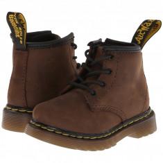 Dr. Martens Kid's Collection Brooklee B 4-Eye Lace Boot (copii) | 100% originali, import SUA, 10 zile lucratoare - z12809 - Ghete copii Dr Martens, Baieti, Piele naturala, Maro
