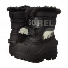SOREL Kids Snow Commander™ (copii) | 100% originali, import SUA, 10 zile lucratoare - z12809 - Cizme copii Sorel, Baieti, Cauciuc, Negru