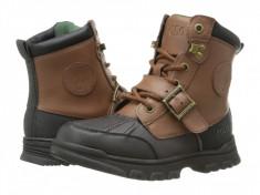 Polo Ralph Lauren Kids Colbey Boot FT14 (Little Kid) | 100% originali, import SUA, 10 zile lucratoare - z12809, Baieti, Maro, Piele naturala, Polo By Ralph Lauren