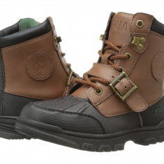 Polo Ralph Lauren Kids Colbey Boot FT14 (Little Kid) | 100% originali, import SUA, 10 zile lucratoare - z12809 - Ghete copii Polo By Ralph Lauren, Baieti, Piele naturala, Maro