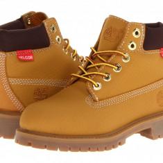 "Timberland Kids 6"" Premium Waterproof Scuff Proof II Boot (Little Kid)   100% originali, import SUA, 10 zile lucratoare - z12809 - Ghete copii Timberland, Baieti, Piele naturala, Camel"