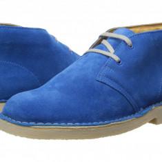 Clarks Kids Desert Boot (copii) | 100% originali, import SUA, 10 zile lucratoare - z12809 - Ghete copii Clarks, Baieti, Piele naturala, Albastru