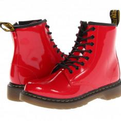 Dr. Martens Kid's Collection Delaney Lace Boot (copii) | 100% originali, import SUA, 10 zile lucratoare - z12809 - Ghete copii Dr Martens, Fete, Piele naturala