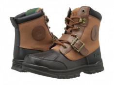 Polo Ralph Lauren Kids Colbey Boot FT14 (copii) | 100% originali, import SUA, 10 zile lucratoare - z12809, Baieti, Maro, Piele naturala, Polo By Ralph Lauren