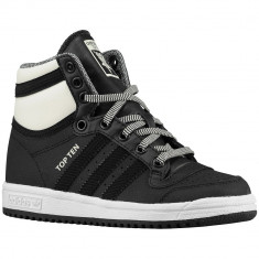 Adidas Originals Top Ten Preschool | 100% originali, import SUA, 10 zile lucratoare - e12709 - Ghete copii Adidas, Baieti, Piele naturala, Negru