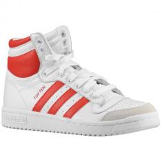 Adidas Originals Top Ten Grade School | 100% originali, import SUA, 10 zile lucratoare - e12709 - Ghete copii Adidas, Baieti, Piele naturala, Alb