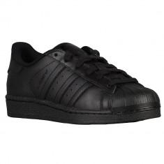 Adidas Originals Superstar Preschool   100% originali, import SUA, 10 zile lucratoare - e12709 - Adidasi copii, Baieti, Piele naturala, Negru