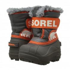 SOREL Kids Snow Commander™ (copii) | 100% originali, import SUA, 10 zile lucratoare - z12809 - Cizme copii Sorel, Baieti, Cauciuc, Gri