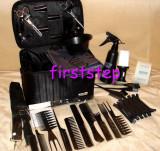 Set kit frizerie coafor COMPLET cu foarfeca profesionala tuns filat GEANTA !