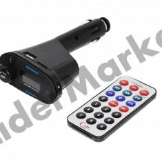Modulator FM cu display si telecomanda - Modulator FM auto