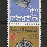 Maroc.1969 50 ani Liga de Crucea Rosie:Bijuterii-tete beche CC.162 - Timbre straine, Nestampilat