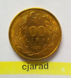Moneda 100 LIRE - TURCIA, anul 1990  *cod 1145, Europa
