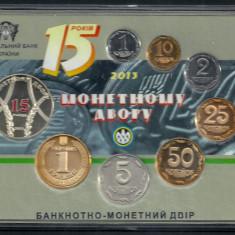 UCRAINA SET MONETARIE 2013, UNC 7 Monede PROOF & Medalie Comemorativa, Europa