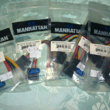Adaptor Power Molex-  Dual Sata Manhattan Sigilat-Nou!