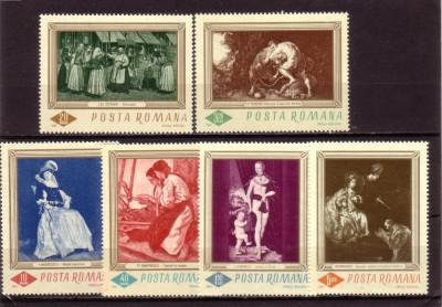 Romania L644 Reproduceri de arta - 1967 foto