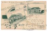 3037 - L i t h o, Brasov, ZARNESTI - old postcard, CENSOR - used - 1901, Circulata, Printata
