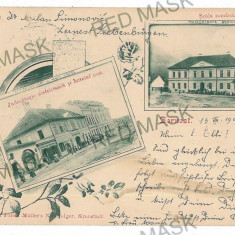 3037 - L i t h o, Brasov, ZARNESTI - old postcard, CENSOR - used - 1901