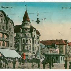 1675 - ORADEA, Market - old postcard, CENSOR - used - 1915 - Carte Postala Crisana 1904-1918, Circulata, Printata