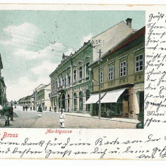 1452 - Litho, Hunedoara, ORASTIE, Market - old postcard - used -1902 - Carte Postala Transilvania pana la 1904, Circulata, Printata