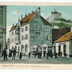976 - Litho, Mures, SIGHISOARA, Market - old postcard - unused - Carte Postala Transilvania 1904-1918, Necirculata, Printata