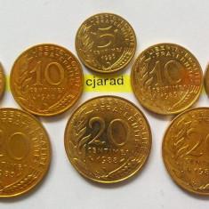 Moneda Lot 8 Monede Diferite- Necirculate FRANTA *cod 1200, Europa, An: 1980