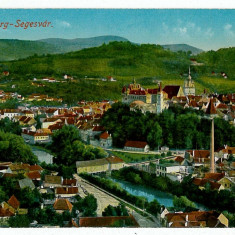 2086 - Mures, SIGHISOARA, Panorama - old postcard - unused - Carte Postala Transilvania 1904-1918, Necirculata, Printata