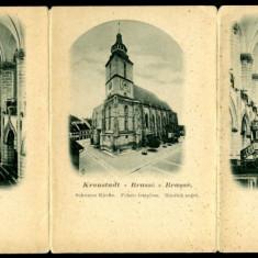 2281 - BRASOV, Black CHURCH - 3 old postcard - unused - Carte Postala Transilvania pana la 1904, Necirculata, Printata