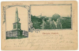 1985 - Litho, Hunedoara, SIMERIA, statue, Railway Station - old PC - used- 1899, Circulata, Printata