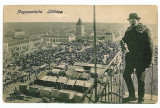 82 - SALONTA, Bihor, Synagogue to left , Market - old postcard - used - 1914, Circulata, Printata