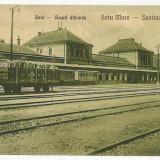 613 - SATU-MARE, Railway Station - old postcard - unused - 1923
