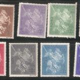 Straja tarii Sf. Gheorghe 1939 - serie completa 11 valori NEOBLITERATE, Nestampilat