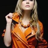 Haina piele portocalie