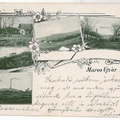 1786 - Litho, Mures, OCNA MURES - old postcard - used - 1901 - Carte Postala Transilvania pana la 1904, Circulata, Printata