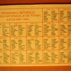 Calendar cu Program Retur Divizia Nationala de Fotbal 1987-1988 - Program meci