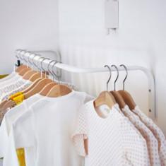 Bara reglabila pentru umerase (haine) - de fixat in perete - 60 - 90 cm lungime