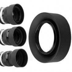 Parasolar 77mm din cauciuc pliabil (3 pozitii )cu prindere pe filet 77mm - Parasolar Obiectiv Foto
