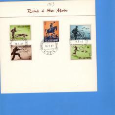 CARTON FILATELIC SAN-MARINO 1963 CAI VANATOARE, Europa